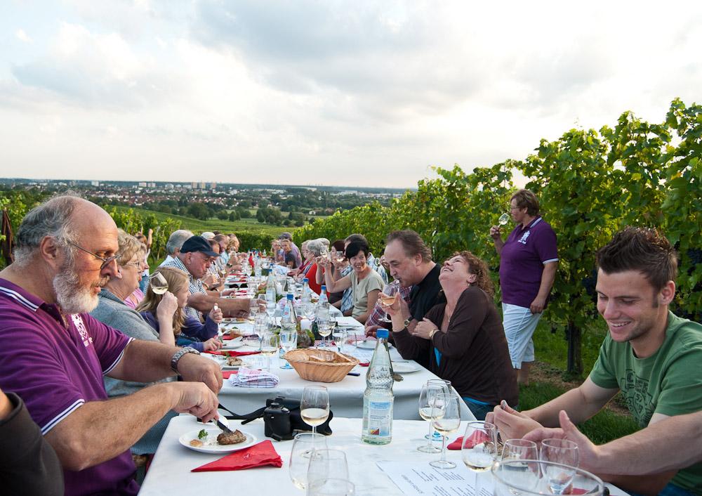 Schnitzelweinprobe in Bensheim, Weingut Mohr