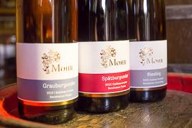 Weinflaschen Weingut Mohr Bensheim